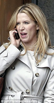 I think it went ok: Poppy, as Rowling, talks on her phone after the reading scene