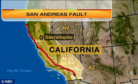 California risk: The San Andreas and Cascadia are on the fourth 'corner' of the Ring of Fire 'square', which has already seen three earthquakes in 2010 and 2011