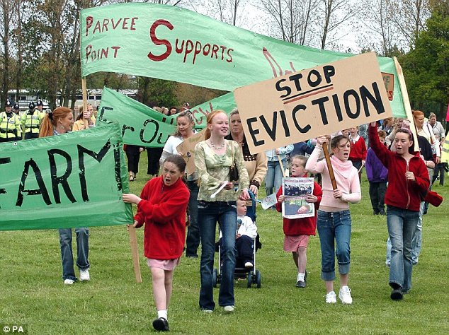 Attrition: The battle for Dale Farm has raged for eight years and this protest by traveller children took place as long ago as 2005