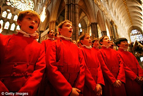 Musical arrangements: Westminster Abbey's choir will sing the well-known hymns chosen by Kate and William