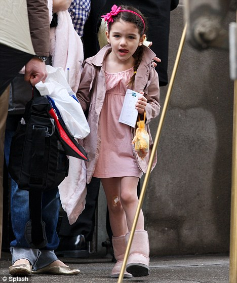 Out and about: Suri was seen out and about in New York today
