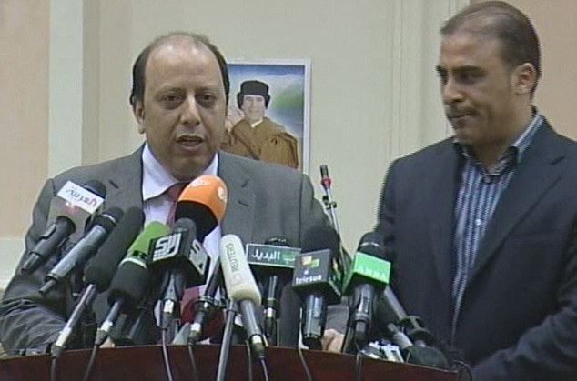 Licence to kill: Libyan deputy foreign minister Khaled Kaim said at a news conference that vote amounted to an agreement for Libyans to kill each other