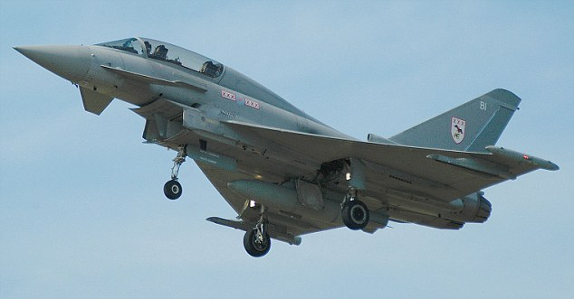 RAF Typhoon F2 fighter from