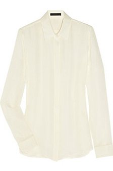 Paige silk-georgette blouse, $610, The Row at net-a-porter.com