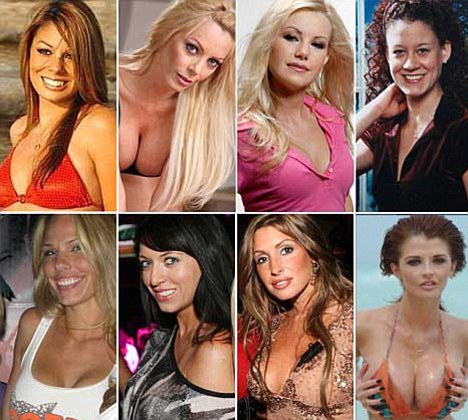 Tiger's alleged 'transgressions' from left to right, top row: Jaimee Grubbs, Holly Sampson, Jamie Jungers, Mindy Lawton. Bottom row: Cori Rist, Kalika Moquin, Rachel Uchitel, and Joslyn James