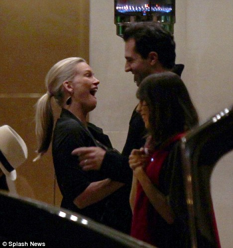 What is funny: The pair also shared a laugh with Natasha cracking a huge smile at her husband