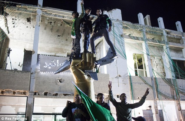 Unwitting: Around 300 Gaddafi supporters were in the tyrant's Tripoli compound when the SAS ordered the RAF to abort their mission to bomb the area