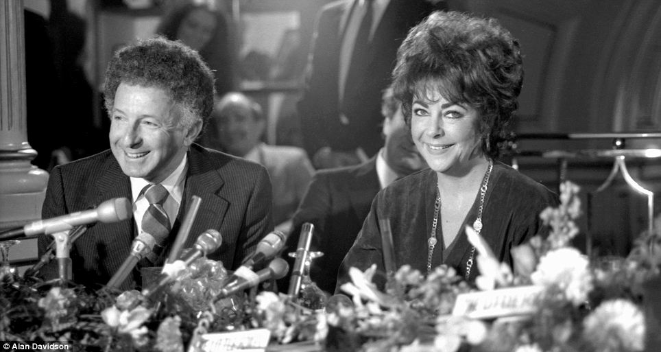 History in the making: Elizabeth Taylor with Zev Buffman, the producer of her 1981 debut Broadway show The Little Foxes