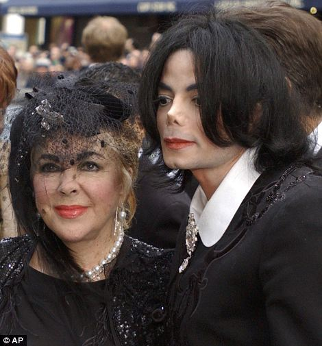 Friendship: The actress had a very close relationship with the late Michael Jackson, seen here at Liza Minnelli's wedding