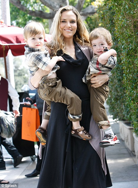 No court date: The temporary restraining order preventing Sheen from contacting his ex-wife Brooke Mueller and their twin boys Bob and Max expired yesterday