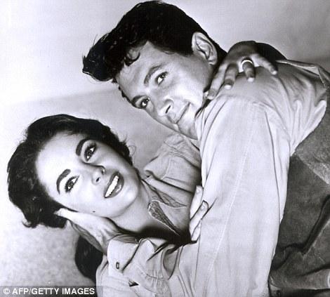 Leading lady: In 1956 she starred opposite Rock Hudson in Giant