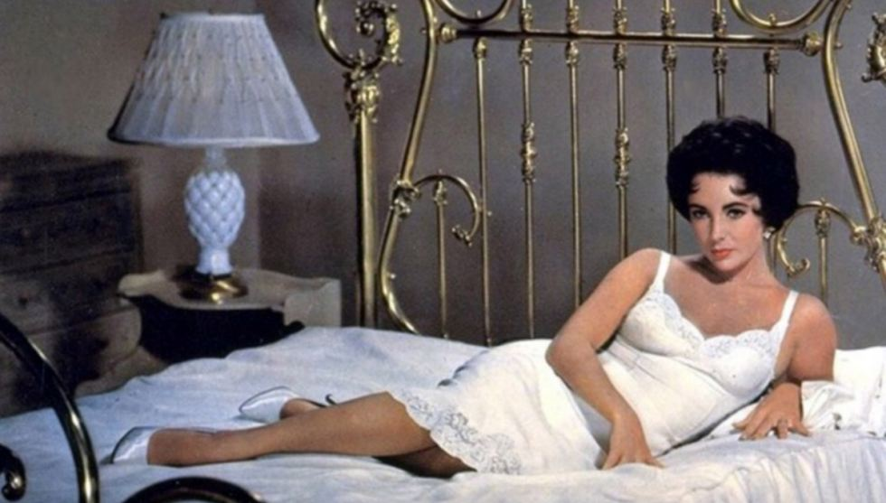 Scorching: Elizabeth smouldered on screen including in the 1958 classic Cat On A Hot Tin Roof