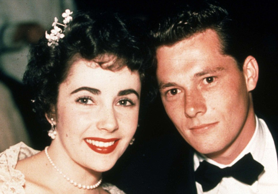 Husband number one: With hotel heir Conrad Hilton in 1950, aged 18, but it lasted only until 1951