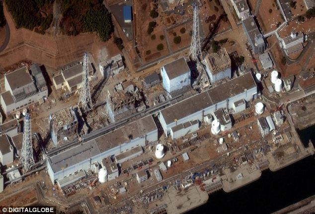 Crisis: U.S. freshwater has been rushed to the area surrounding the No. 1, No. 2, No. 3 and No. 4 reactors at the Fukushima plant as fears of further radiation leaks grow