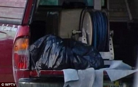 Horrific: Nadia's body was found wrapped in a rubbish bag and covered in corrosive chemicals in the back of a pick-up truck in Florida