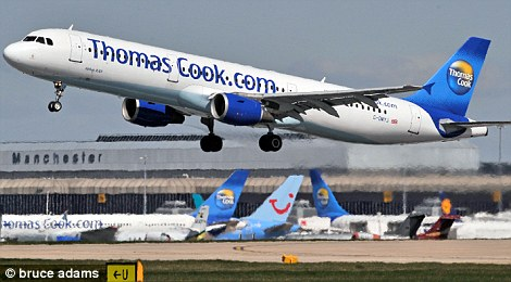Down: Thomas Cook said winter bookings have fell by 5 per cent