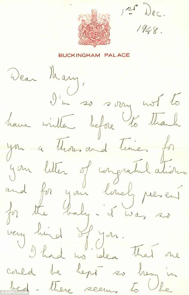 Mother's pride: The letter in which the Queen speaks of her delight with the baby Charles