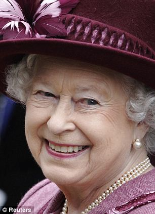 So happy: It is rare for the Queen to show emotion in public, making the letters all the more revealing
