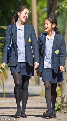 Friends: The more girls you have the more of a handful they become, say researchers