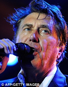 Hard-working: The star has recently been on a gruelling world tour with his former band Roxy Music after they reunited