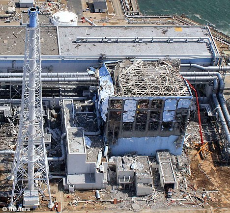 One the brink: The Fukushima power plant went into meltdown after the tsunami in Japan last month