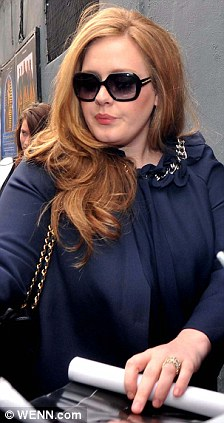 Popular: Adele was bombarded by fans outside Dublin's Olympia Theatre ahead of her show