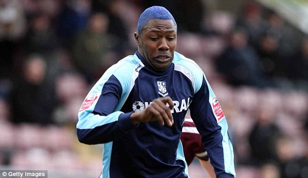 Blue rinse: Savage stands out for former club Tranmere Rovers against Northampton Town at Sixfields Stadium in 2009
