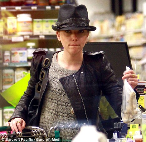 Healthy choices: Scarlett's purchases include almond milk and fresh ginger