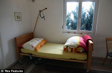 Assisted suicide: A bed at a Dignitas clinic in Switzerland, shown in the forthcoming BBC documentary