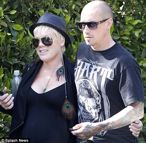 Birthing options: Pink revealed this week via Twitter that she and Carey have been attending birthing classes and wants her husband to feed her during labour