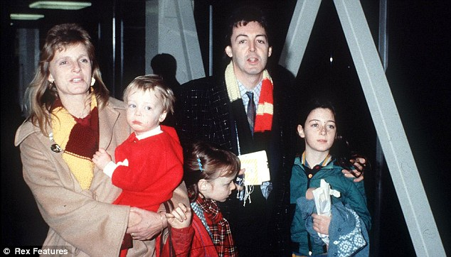 Family portrait: Sir Paul and Linda McCartney with their children Stella, Mary and James in 1981