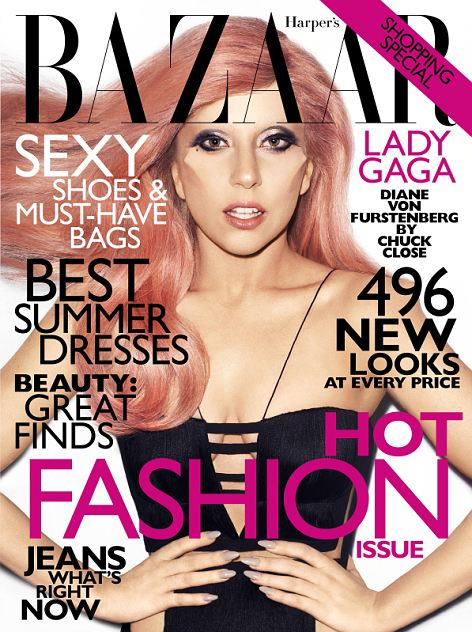 The shoot appears in the May issue of Harper's Bazaar
