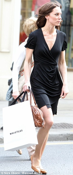 Future Queen of King's Road: Kate with shopping bags
