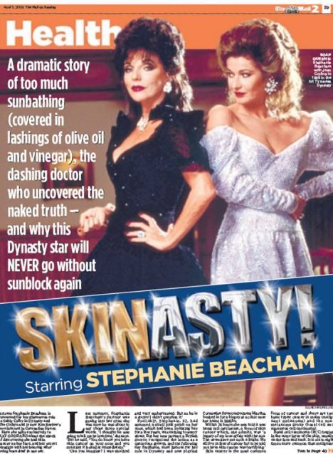 Flashback: How we reported Stephanie Beacham's first cancer diagnosis in 2009