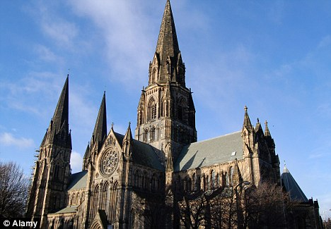 Place of worship: The Cardinal made his comments at St Mary's Cathedral in Edinburgh, during his Easer sermon