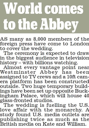 The world comes to the Abbey for huge media event