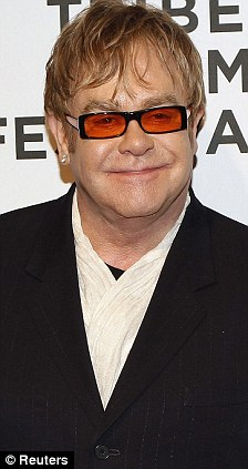 Ubiquitous: Elton John will be at Westminster Abbey