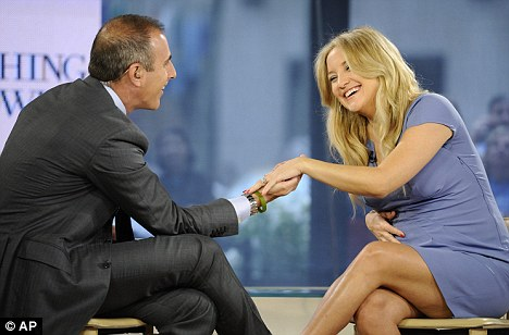 Second time around:  Actress Kate Hudson revealed she is engaged as she appeared on America's The Today Show