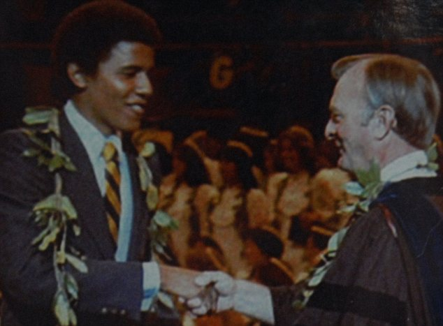 Barack Obama as a student, years before he entered the White House
