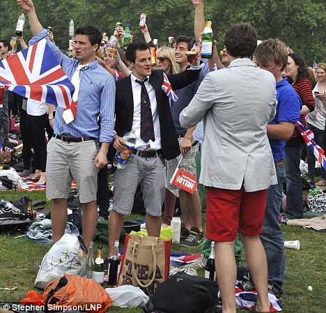 True Brit: Many people of the same generation as William and Kate got in on the very British occasion