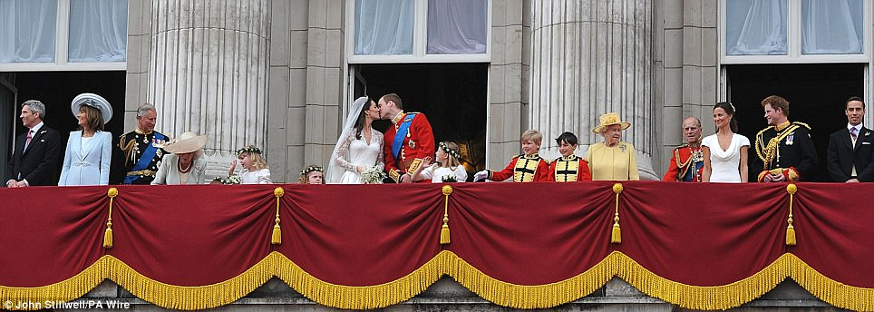 One for one's family album: On the balcony of Buckingham Palace
