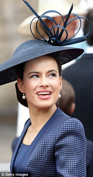 Getting ahead: There were more impressive hats on display from Zara Phillips and Lady Frederick Windsor