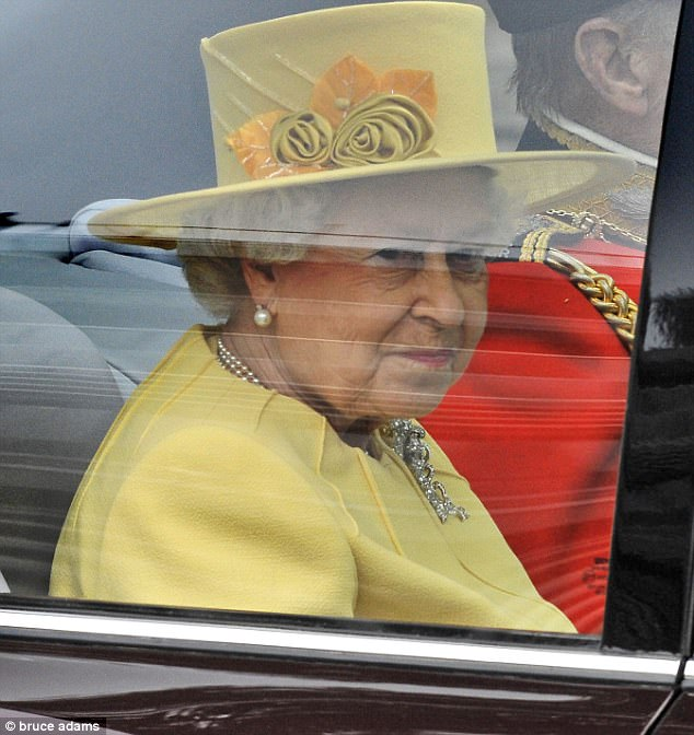 Favoured designer: Angela Kelly also designed the Queen's hat - which featured handmade silk roses - for the wedding
