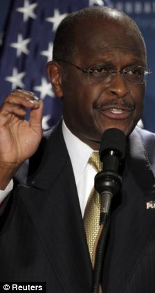 """Businessman and likely Republican presidential candidate Herman Cain speaks at the Americans for Prosperity Foundation's """"Presidential Summit on Spending and Job Creation"""""""