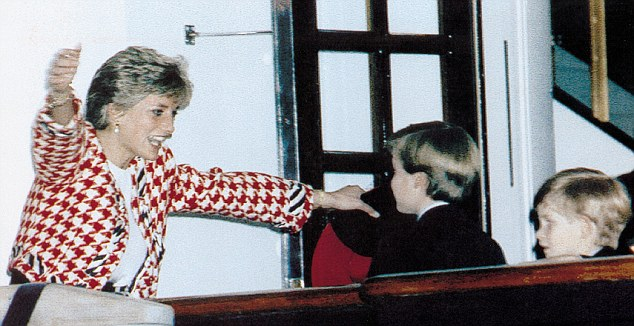 Love: Diana's evident love for Princes William and Harry has become her greatest legacy
