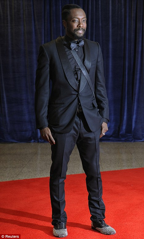 Stud: Will-i-am of the Black Eyed Peas toned it down apart from his studded shoes