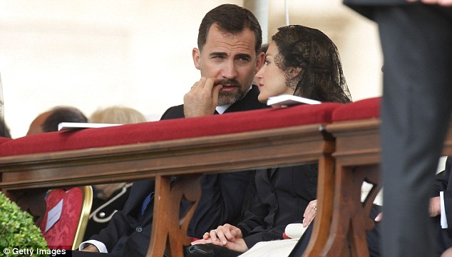 Support: Prince Felipe and Princess Letizia of Spain attend the ceremony