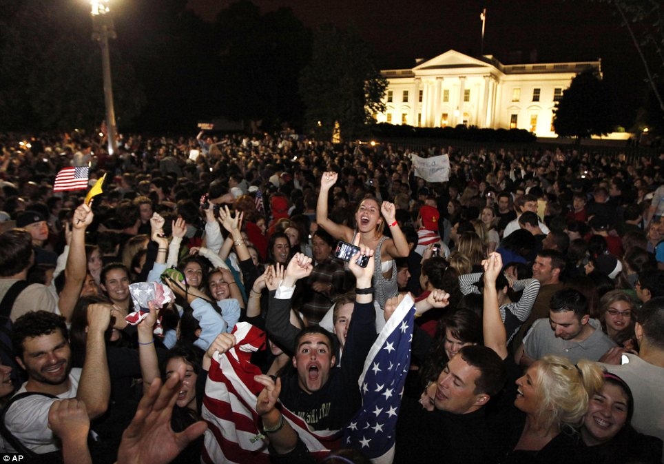 History in the making: Thousands gathered to celebrate the news America had been awaiting for nearly a decade