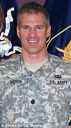 Overseas mission: Senator Scott Brown will train in Afghanistan as a lieutenant colonel in the National Guard