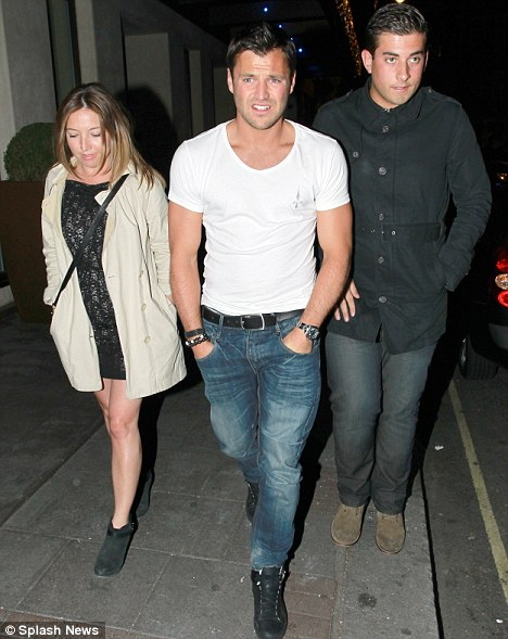 Out on the town: Mark Wright and James 'Arg' Argent were seen at London's Mayfair Hotel last night
